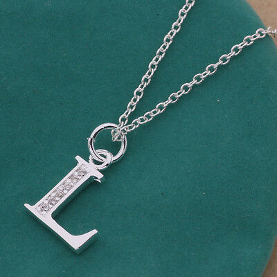 New fashion jewelry solid 925silver charm Letter L Necklace Pendant Xmas Gifts