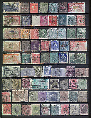 France, Italy, Belgium etc. old perfin selection *b171020
