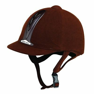 New ** Harry Hall **chocolate Adults Legend Riding Hat Size 7 (57Cm)   Helmet