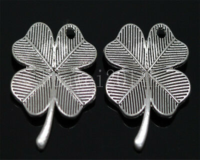 20pcs Tibet Silver leaves Jewelry Finding Charm Pendant 23x17.5mm