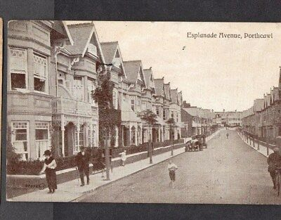 Porthcawl.1923.esplanade Avenue.old Black & White Postcard.good Used.