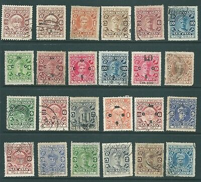 INDIA - Used collection of stamps from the State of COCHIN