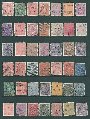 INDIA - Used collection of stamps from the State of TRAVANCORE