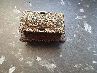 Antique White Metal Silver? Trinket Box Good Decoration No Reserve