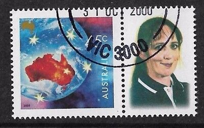 2000 Paralympic Medalist Personalized Tab Stamp CTO