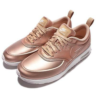 d84d71631e NEW NIKE WOMENS Air Max Thea SE Running Shoes Mtlc Red Bronze 861674 ...