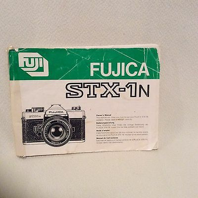 Fujica Stx1 Instruction Book