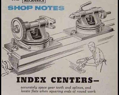 Milling Machine INDEXING CENTERS How-To build PLANS