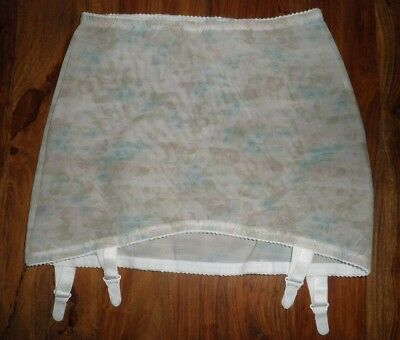 "Vtg 70s Floral Corset Girdle Roll On Open Bottom Hips 34/36"" Retro"