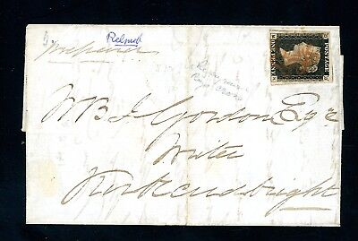 1841  Penny Black Cover  London to Kirkubright Scotland. very fine     (O1435)