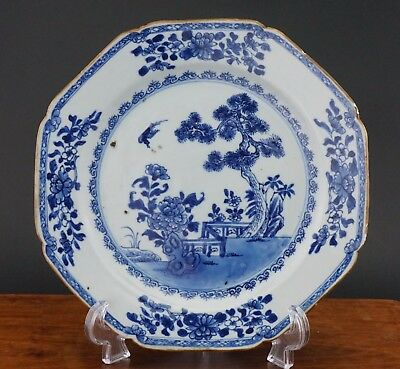 Antique Chinese Porcelain Blue and White Plate Charger 18th C QIANLONG