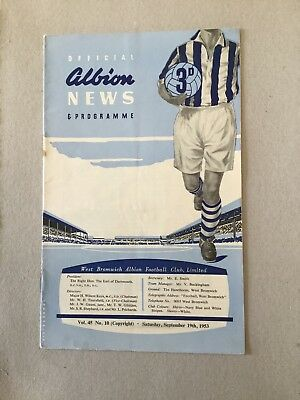 WEST BROMWICH ALBION v CHARLTON ATHLETIC 1953/4.