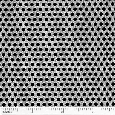 """Galvanized Steel Perforated Sheet .040"""" x 24"""" x 24"""" - 1/8 Holes - 3/16 Stagger"""