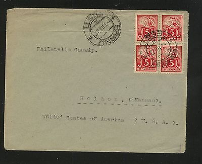 Estonia   block  on cover to   US                KL0719