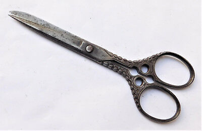 NO RESERVE c1890 Victorian Steel Sewing Scissors Vintage Antique