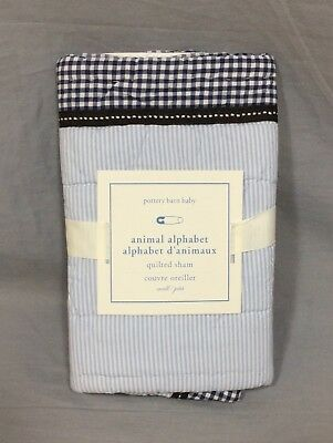 Pottery Barn Kids Blue ABC Small Quilted Sham