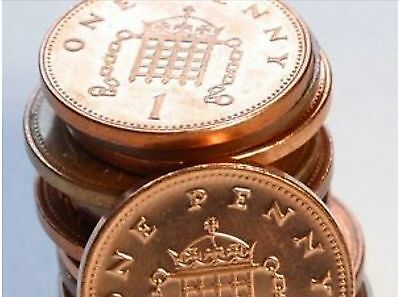 1p (One) Pence Coins Date: 1992 Standard Portcullis Reverse Unlimited Supply
