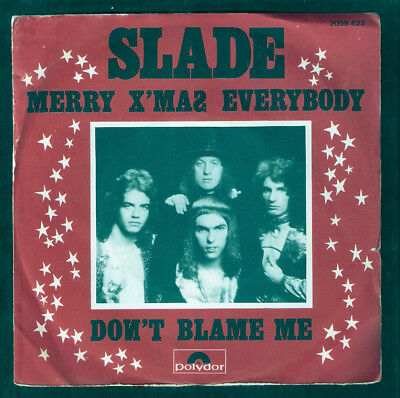 SLADE,Merry Xmas everybody FRENCH 45 Picture sleeve.GLAM ROCK.See others