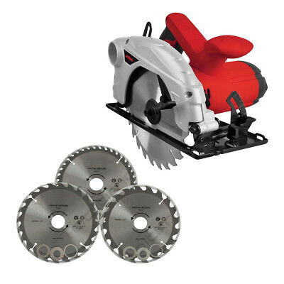 AMTECH 185MM CIRCULAR SAW 1300W 230V 0-45° BEVEL + 4 x TCT BLADES 2 YR WARRANTY