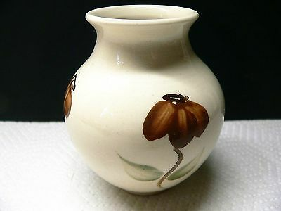Small Posy Vase - Red Brown Cone Flowers - Holkham Studio Pottery - Norfolk Uk