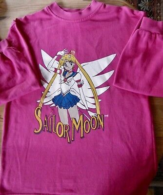 Original  Sailor Moon Sweatshirt  Vintage Pink 1999 Naoko Takeuchi