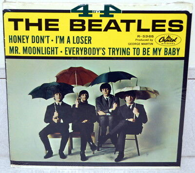 """THE BEATLES  4 by 4 Insanely Rare SEALED Vinyl 45 7"""" EP Capitol Records R-5365"""