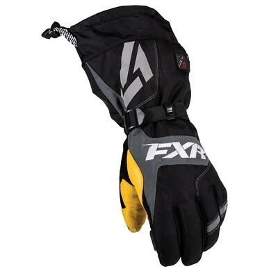 FXR Recon Mens Heated Gloves Black/Yellow