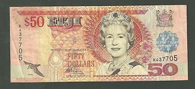 Fiji 50 Dollars Currency Note 108A Paper Money Fifty Dollars