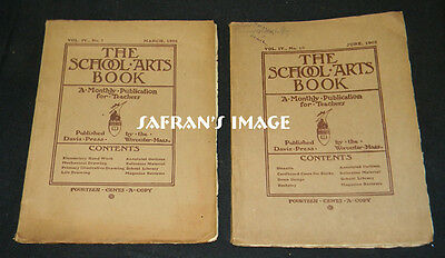Vintage 1905 The School Arts Book March & June TEACHER MONTHLY Collectors L@@K