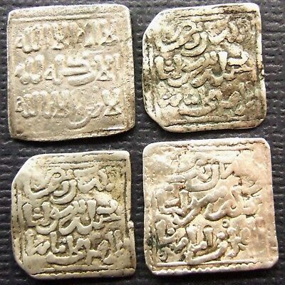 ISLAMIC. Lot of 4 AR Dirhem; Al-Maghreb (North Africa, Morroco); AH 550s-668