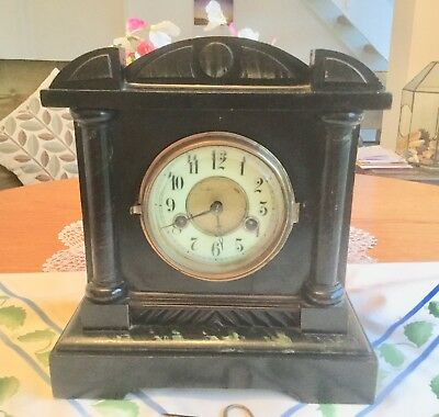 Antique 'hac' German  Striking Mantel Clock - Working With Key