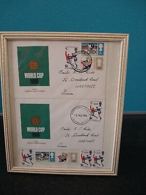 1966 World Cup Memorabilia -Framed First Day Covers and Stamps.