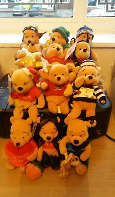Disney collectable beanies Winnie the pooh bundle of 12    1p start