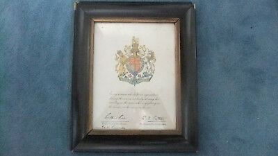 Womans Land army  Certificate 1917 ww1 WORLD WAR 1- framed