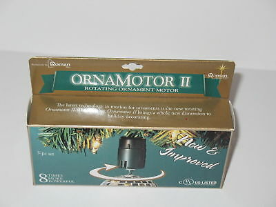 Ornamotor II Roman 3 Piece Set Rotating Ornament Motor New In Box Spin twirl
