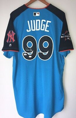 Aaron Judge signed Yankees Autographed Authentic Rookie Game Jersey FANATICS COA