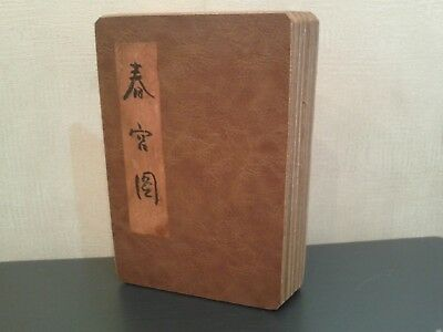 Old  Chinese  Erotic  Handpainted  Folding  Book