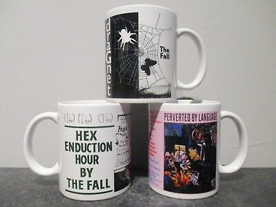 3 x THE FALL mugs DRAGNET / HEX ENDUCATION HOUR / PERVERTED BY LANGUAGE