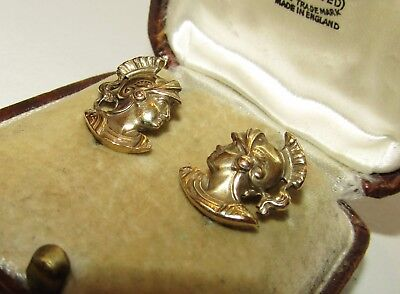 Rare, Victorian, Napoleonic French 14 Ct Gold ' Athena ' Earrings