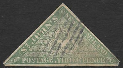 NEWFOUNDLAND 1857/60 3d imperf forgery, used. SG 3.