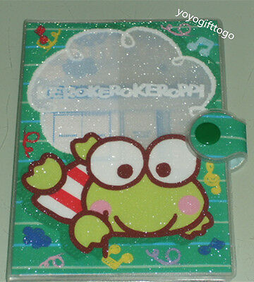 2015 Sanrio Keroppi Frog PVC surface Passport Holder flash yarn material