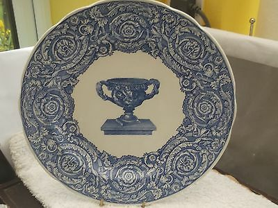 Spode Blue Room  Decorative Plate Of Warwick  Vase In  Blue And White