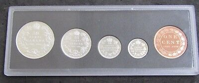 1908-1909 Canada 90th Anniversary Proof 5-Coin Set .925 Sterling Silver