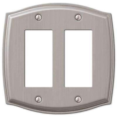 Sonoma  Brushed Nickel Double (2) Gfi Rocker Switchplate Wallplate