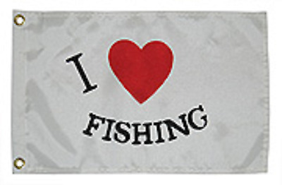 """Fishing Flag Nylon with Brass Grommets 12"""" x 18"""" Taylor 3718"""