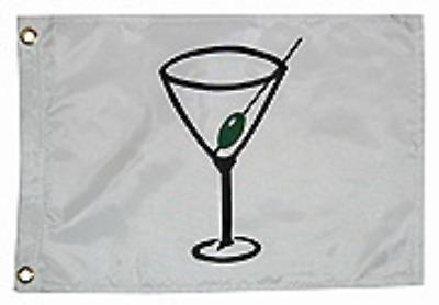 """Cocktail Martini Flag Nylon with Brass Grommets 12"""" x 18"""" Taylor 9118"""