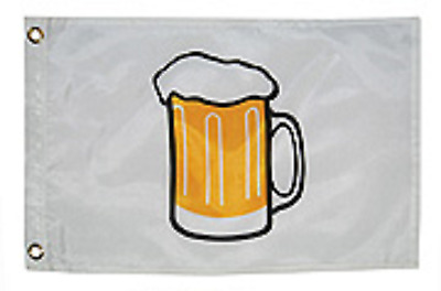 """Beer Flag Nylon with Brass Grommets 12"""" x 18"""" Taylor 9218"""