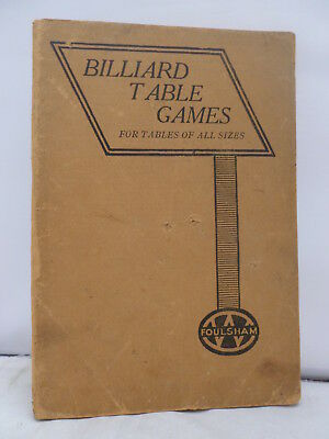 Billiard Table Games by W G Clifford 1936 Illustrated