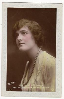 VINTAGE GLAMOUR RP POSTCARD,DAILY MIRROR BEAUTY,MISS GLADYS M MARSH, c1920