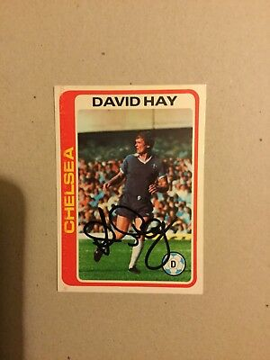 DAVID HAY ( Chelsea ) signed Tops Card.